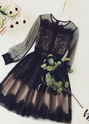Платье с кружевом😻