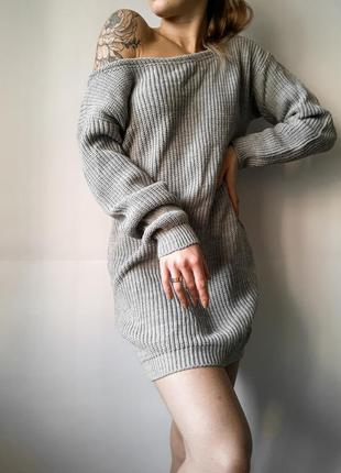 Тёплый вязаный свитер! вязаное платье