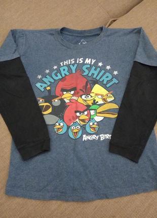 Реглан-кофта на мальчиков для поклонников angry birds 10-11 лет