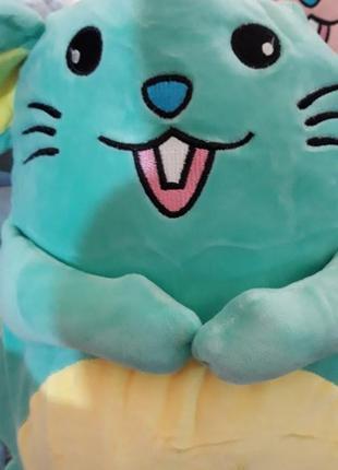 Мягкая мышка символ нового года подушка трансформер игрушка, плед, сумочка