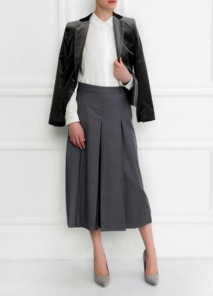 38-40р. шерстяная роскошная юбка-брюки на подкладе m&s