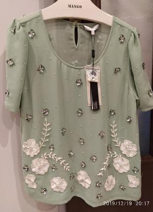 Блуза жіноча м'ятного кольору від next