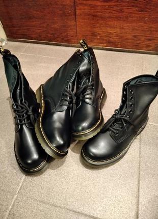 Высокие ботинки (копия dr. martens) 43 paзм.2 фото