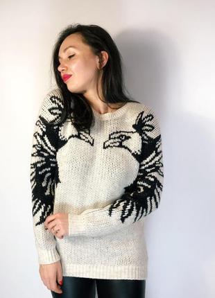 Очень теплый удлиненный свитер от topshop