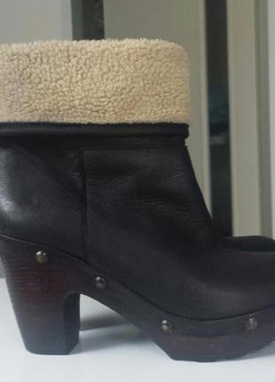 Ботинки сабо на каблуке