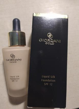 Тональний крем giordani gold liquid silk foundation
