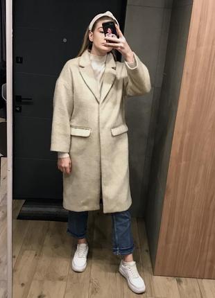 Светлое пальто h&m
