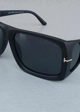 Tom ford очки маска женские солнцезащитные черные с боковыми линзами