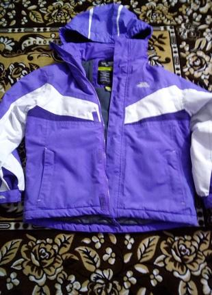 Теплая детская куртка 7-8лет