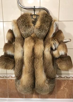 Шуба из  меха лисы шуба рукав 3/4 шуба мех лисы норка