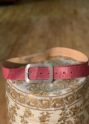 Женский кожаный ремень от дорого бренда vanzetti