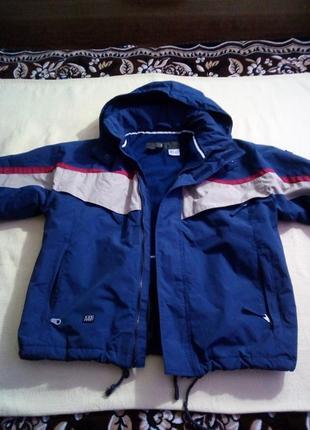 Офигенная фирм.теплая детская куртка на 10лет
