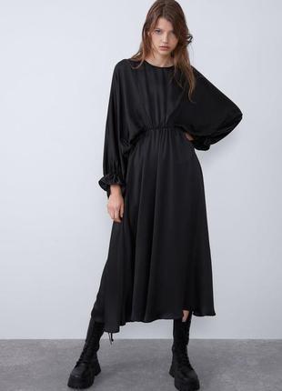 Платье из струящейся ткани zara