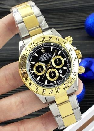 Чоловічій годинник daytona quartz black-gold