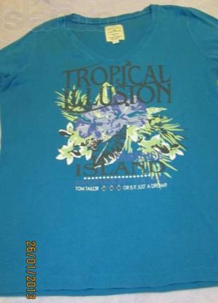 Яркая футболка Tom Tailor, р. XXL