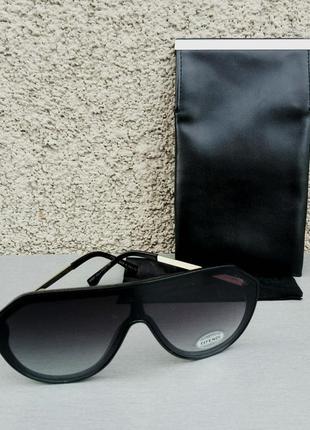 Fendi очки маска женские солнцезащитные черные