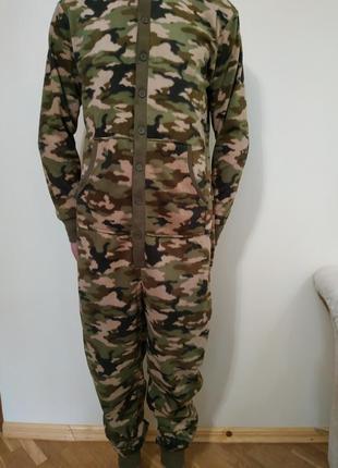 Пижама кигуруми флисовый комбинезон  на размер s