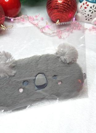 """Плюшевая мягкая повязка на глаза для сна """"коала"""""""