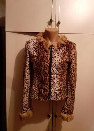 Курточка, пиджак с натуральным мехом bonadea