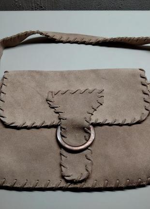 Zara замшевая сумка