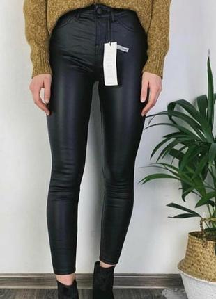 Кожаные утепленные брюки, размер 30