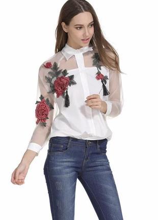 Блузка,рубашка,рубашка с вышивкой