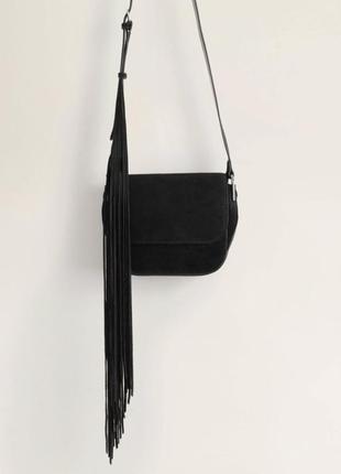Стильная замшевая сумка с бахрамой новая коллекция