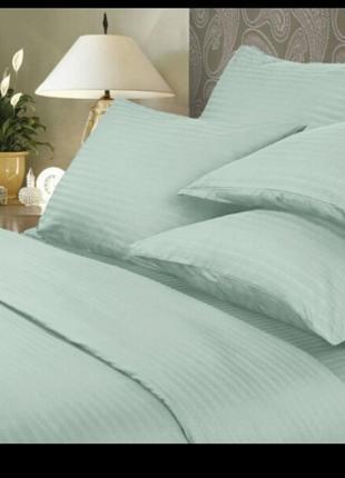 Комплекты постельного белья страйп  сатин все размеры