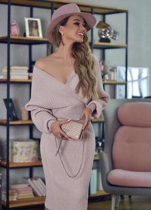 Женственный трикотажный костюм
