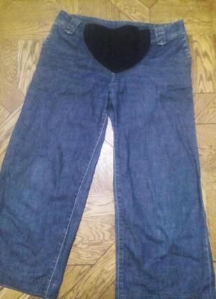 Плотные джинсовые капри для беременных
