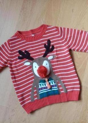 Новогодний свитер для мальчика, рост 92 см