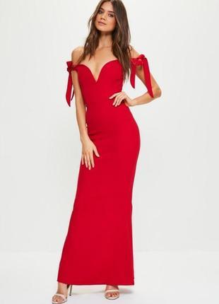 Missguided платье вечернее красное