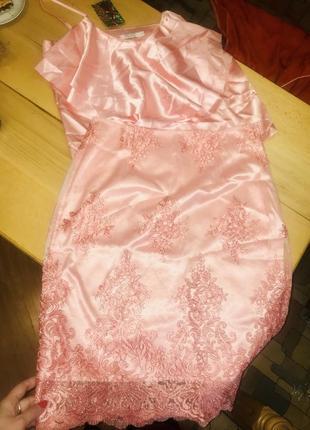 Шикарный нарядный комплект топ и юбка