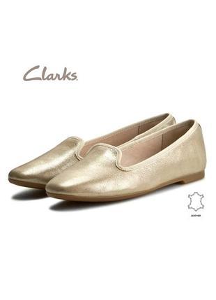 3745 балетки clarks uk6 eu39,5 шкіра нові сток