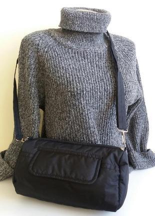 Клатч-косметичка-барсетка сумочка небольшая бочонок дутик легкая удобная