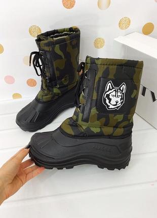 Ботинки мужские зимние, с меховой вставкой, аляска непромокаемые