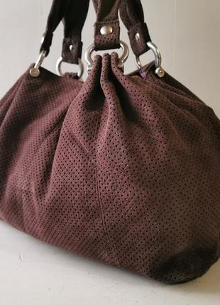 Gap перфорированная замшевая сумка