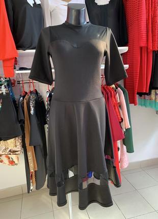 Черное платье нарядное сетка
