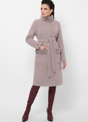 Зимове пальто з норкою