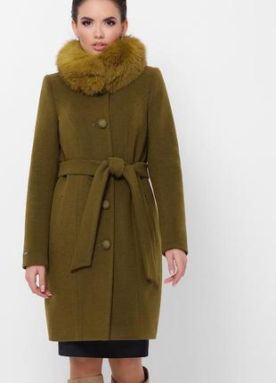 Пальто зимове з песцем