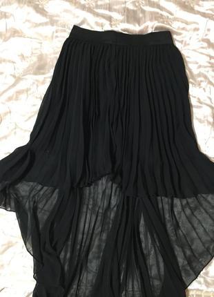 Юбка серная шифоновая со шлейфом