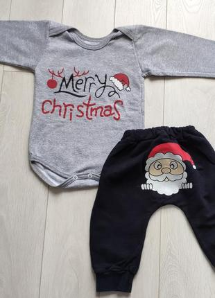 Новогодний набор бодик + штанишки