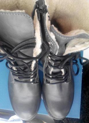 Кожаные зимние ботинки, португалия!