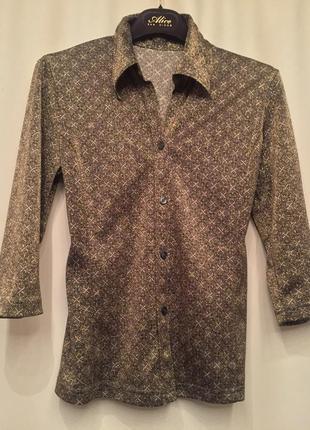 Нарядная кофточка, рубашка, люрекс, италия.