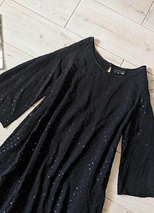 Нарядное вечернее платье трапецией свободного кроя с пайетками  m l