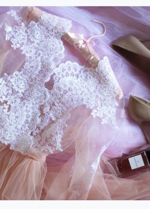 Будуарное платье ручной работы