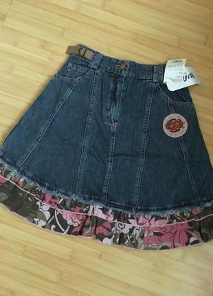 Красивая новая джинсовая юбочка.новогодняя распродажа