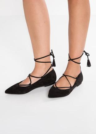 Кожаные туфли лодочки kennel&schmenger балетки замшевые, люкс