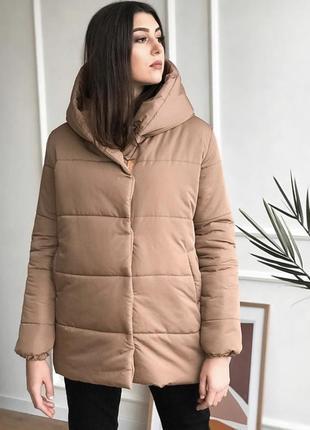Пуховик дутая зимняя куртка пуффер
