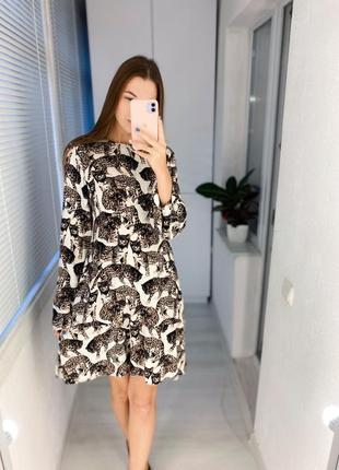 Платье с кошками вискоза